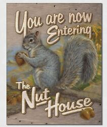 The Nut House Metal Tin Sign Humor Home Bar Shop Funny Welcome Wall Decor 2327