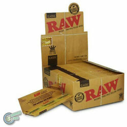 50 X 50 Raw King Size Slim Classic Paper Cigarette Filter Papers Rolling