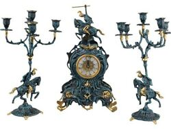Composition Interior Clock With Candlesticks The Winner Of The Bronze Table ...
