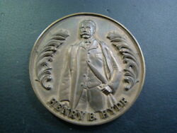 Early 20th Century Henry B. Hyde Large Bronze Medal Plaque 72mm