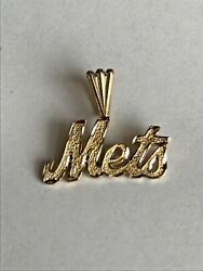 14k Gold Small Ny Mets Pendant Charm For Necklace/ Chain 1grams Gift
