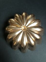 Vtg Copper Aluminum Fluted Round Mold Wall Hanging Kitchen Decor French Country