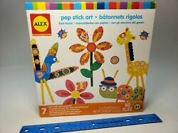 ALEX Toys Pop Stick Art Craft Fun Easy Kit Ages 3 160 pc w stickers shapes