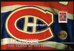 Montreal Canadiens 100th Anniversary Pack Coin And Stamp Set