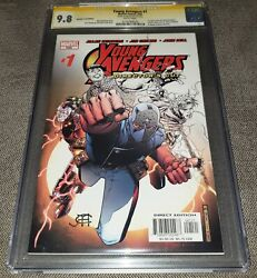 Young Avengers 1 Cgc 9.8 Ss Director's Cut. Signed By Jim Cheung