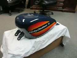 Harley Davidson Oem 883/1200 Xl Fuel Tank Blue With Hd Graphics 07-19 62213-07