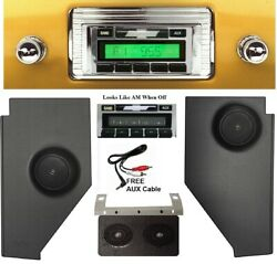 1947-1953 Chevy Truck Radio Dash And Kick Panels W/ Speakers Aux Cable Stereo 230