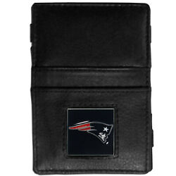 Nfl New England Patriots Wallet Jacob's Ladder Style Fine Grain Leather New