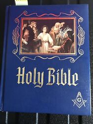 Holy Bible Grand Lodge Masonic Ed On Heirloom Large Text Heavy Exc Cond