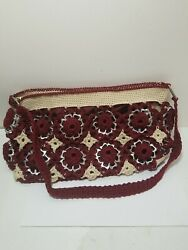 Upcycled Pop Soda Aluminum Can Tabs Tops Crocheted Purse. A24