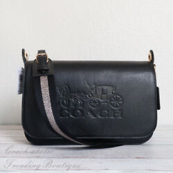 NWT Coach F72703 Leather Jes Messenger Crossbody in Black $165.00