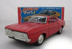 Ichiko Ford Mustang Mach 1 Red Friction Powered Vintage Rare Vehicle From Japan