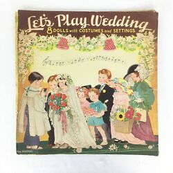 Vintage 30s Lets Play Wedding By Saalfield Publishing 1938 The Baileys