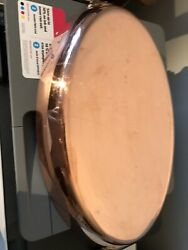 Mauviel Copper Oval Au Gratin Tin Lined Bronze Handles France French Old Stock
