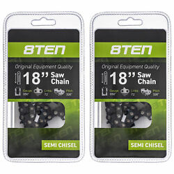 Chainsaw Chain For Husqvarna 240 136 137 142 531300439 18 Inch .050 .325 2 Pack