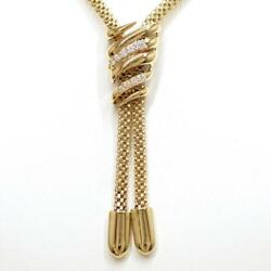 Jewelry Pola 18k Yellow Gold Necklace Diamond 0.23 About26.2g Free Shipping Used