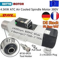 【fra】4.5kw Atc Air Spindle Motor Automatic Tool Change Bt30 380v For Cnc Milling