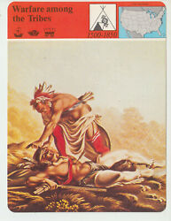 Warfare Among The Tribes Indian Native American History Story Of America Card