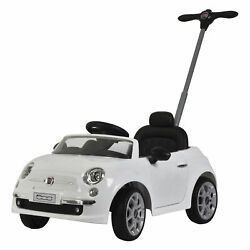 Best Ride On Cars 2-in-1 Fiat 500 Model Baby Push Car Stroller White Used