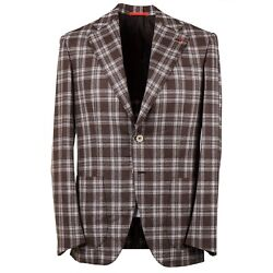 Isaia 'marechiaro' Layered Check Soft Brushed Flannel Wool Suit 40r Eu 50