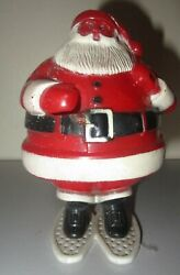 Rosbro Vintage Santa Claus Snowshoes Plastic Christmas Candy Container