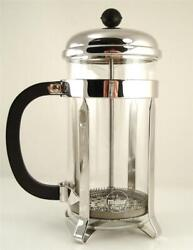 Vintage Nos Melior 8 Cup French Press Coffee Maker Plunger France Nickel New