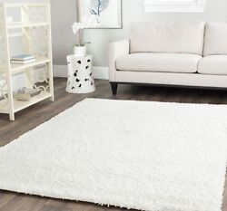 Solid Pure White Shag Area Rug Rugs Carpet 4 6 5 8 7 10 8 10 10 13 9 12 11 15