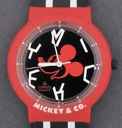 Lorus Mickey Mouse amp; Co. Red amp; Black Character Watch in Box