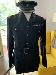 Pre Wwi Complete Officers Uniform Royal Regiment Of Wales Named Tunic Hat Pants