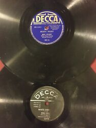 2 Bing Crosby Christmas 1940s 78rpm Records - White Christmas And Silent Night