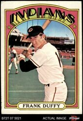 1972 Topps 607 Frank Duffy Indians 4 - Vg/ex