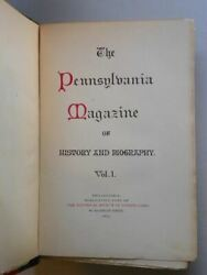 The Pennsylvania Magazine Of History And Biography Vols 1-27 1877-1903 With Ind