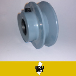 4 Cast Iron Pulley 7/8 Bore Sheave Single 1 Groove V Style A Belt 4l New 3.95