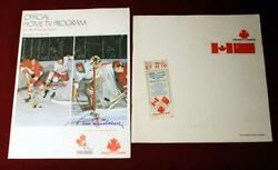 1972 Summit Series Game 2 And Tv Programs Both Signed Paul Henderson Ticket Stub