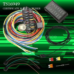12-14 Circuit Universal Wiring Harness Muscle Car Hot Rod Street Xl Wires True