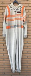 Ghostbusters Mens Size 3x 1 Pc Pajamas Sleeper Costume Hooded New W/tags