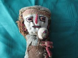 Vintage Peruvian Doll, Hand Made 11 Old Cloth Doll Made In Peru