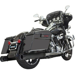Bassani 4 Dnt Straight Can Muf. W/ Baf.blk 96-06 H-d Road King-injec.flhr-i
