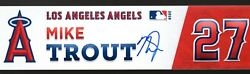 Mike Trout Signed 2018 Locker Name Plate W/mlb Coa