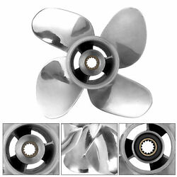 9.9x9 Rh Outboard Propeller 4 Blades Parts For Johnson 15-35hp Engine Stainless