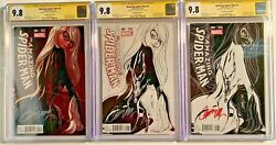 Amazing Spiderman 4 CGC SS 9.8 J Scott Campbell Variants Negative Sketch Color