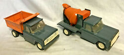 Collectible Vtg Pressed Steel Structo Construction Lot Cement Dump Mixer Toys