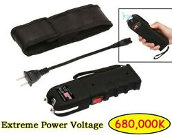 Electric Shock Self Defense Weapon With Led Flashlight Voltage 680000k