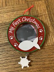 Cat My First Christmas Ornament-brand New=ships N 24 Hours