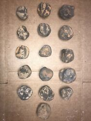 Lot Of 15 Native American Cooking Game Stones Tool Artifacts