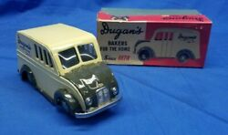 Dugans Bakers For The Home Toy Truck With Box Tin Friction Divco Dugan's Bakery