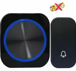 Waterproof Wireless Doorbell Black Button 4 Modes 150m Remote 58 Music For Homes