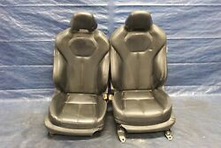 2017 Infiniti Q60 Coupe Red Sport 400 Oem Leather Lh Rh Front Seats Wear 7154
