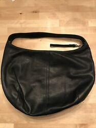 Coach Black Leather Mini Hobo small single strap purse handbag E2K 9221 $23.99