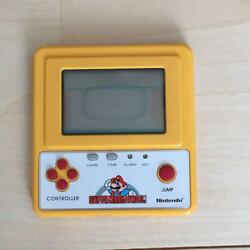 Nintendo Game Watch Super Mario Bros. Yellow With Case Novelty Made In Japan
